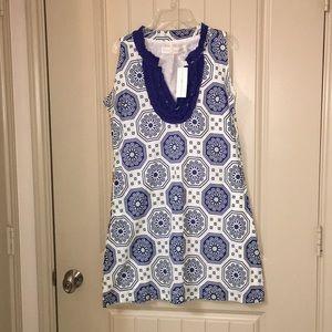 NEW Tracy Negoshian Summer Shift Dress sz M